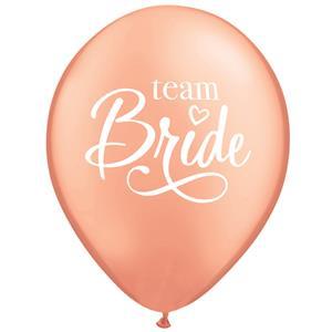 Balões Rosa Dourado Team Bride, 6 Unid.