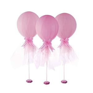 Balões Rosa em Látex com Tule, 2 unid.