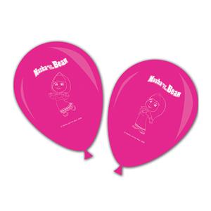 Balões Rosa Masha e o Urso, 8 Unid.