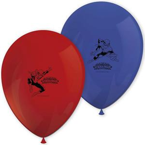 Balões Spiderman Látex, 8 unid.