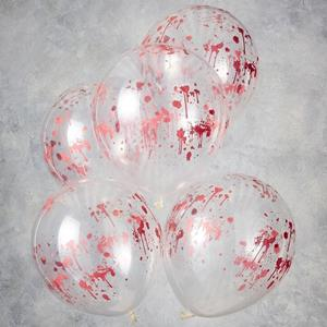 Balões Transparentes Impressos com Sangue Látex, 5 unid.