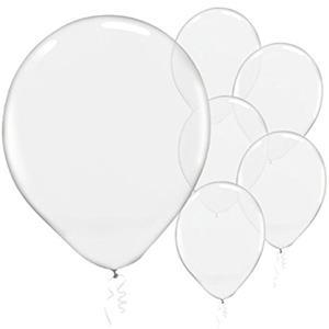 Balões Transparentes Latex, 30 cm, 100 unid.