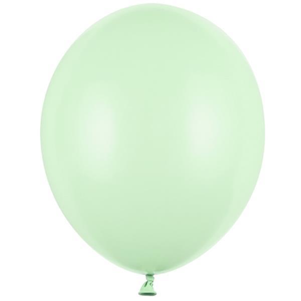 Balões Verde Pistachio Pastel Látex, 30 cm, 10 unid.