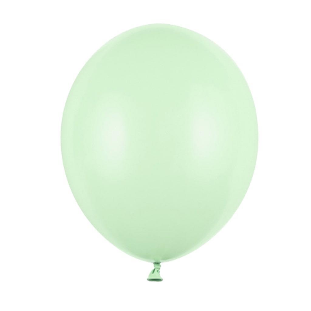 Balões Verde Pistachio Pastel Látex, 12 cm, 100 unid.