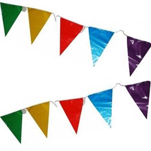 Bandeiras triangulares Multicor em Plástico 10mt