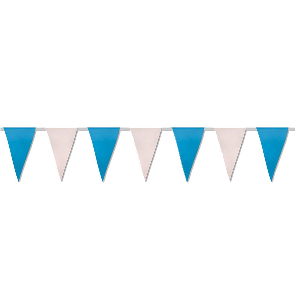 Bandeiras Papel Azul e Branco 50 mt