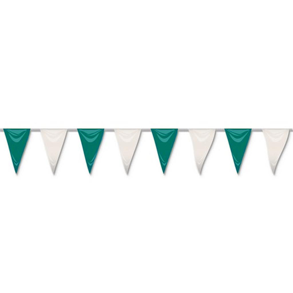 Bandeiras Papel Verde Branco 50 mt