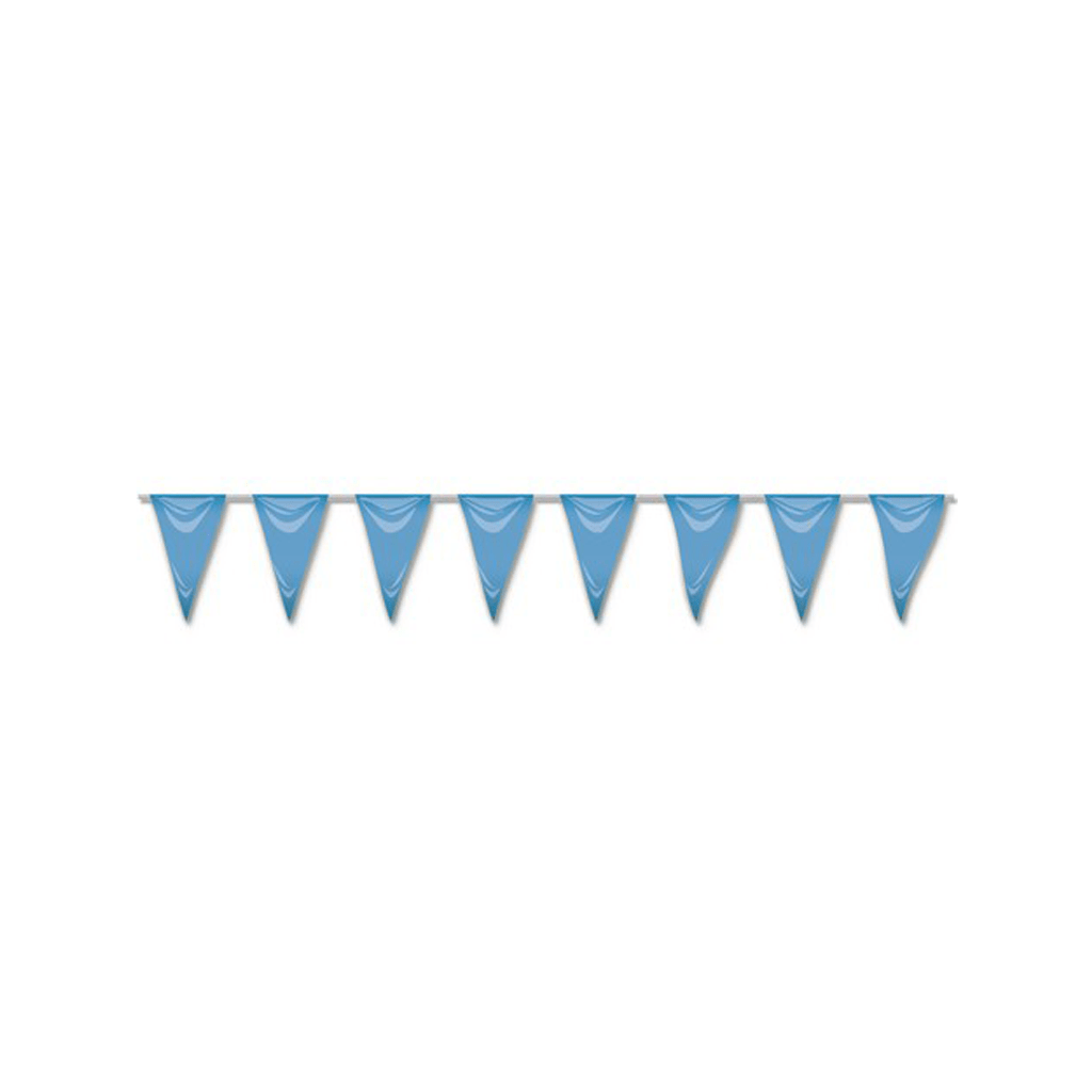 Bandeiras Triangulares Azuis, 5 mt