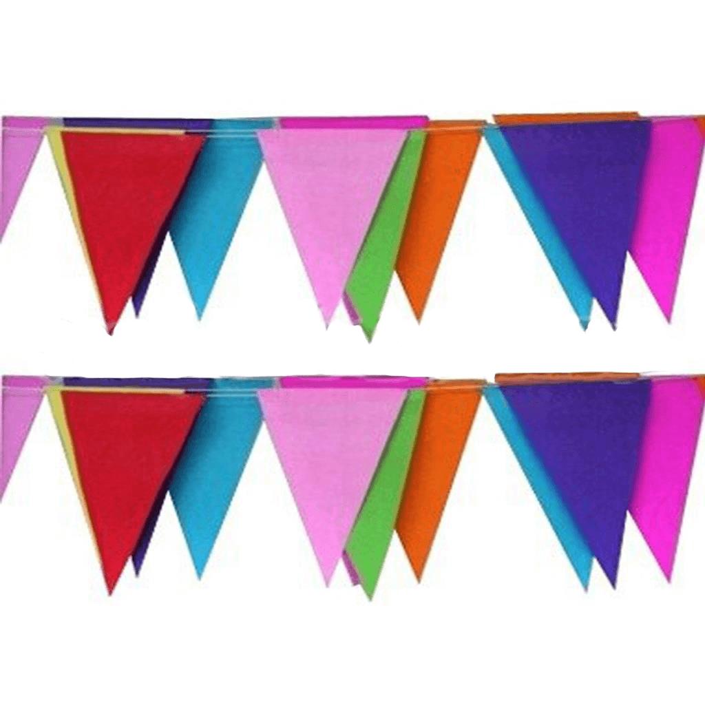 Bandeiras Triangulares em Papel, 10 mt