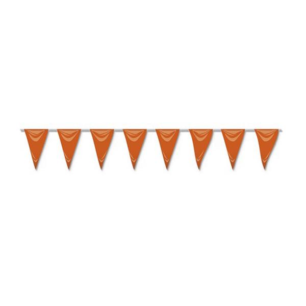 Bandeiras Triangulares Laranja, 5 mt