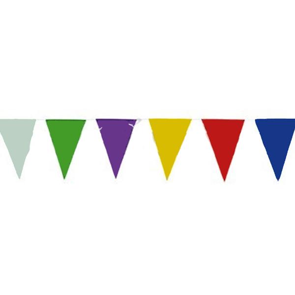 Grinalda Bandeiras Triangulares 50mt Plástico Multicolor
