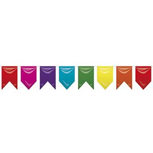 Bandeiras triangulares Multicor em Plástico 25mt