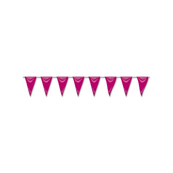 Bandeiras Triangulares Rosa, 5 mt