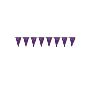 Bandeiras Triangulares Roxo, 5 mt