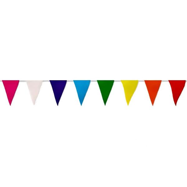 Grinalda Bandeiras Triangulares 50mt Papel Multicolor