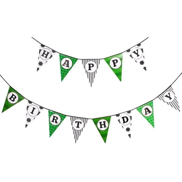 Bandeirolas Happy Birthday Futebol, 500 cm