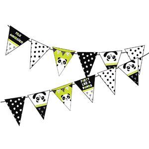 Bandeirolas Panda Risonho, 300 cm