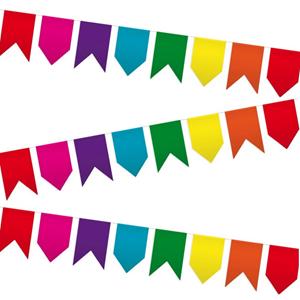 Bandeirolas Papel, 20x30 cm, 25 mt