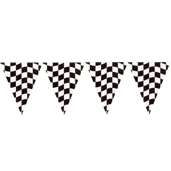 Bandeirolas Xadrez Triangulares, 365 cm
