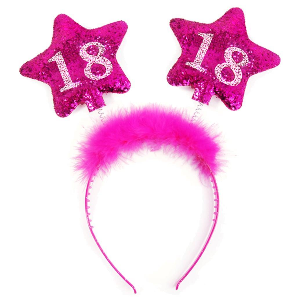 Bandolete 18 Anos com Estrelas Rosa