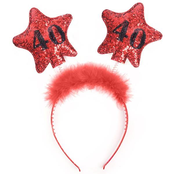Bandolete 40 Anos com Estrelas Vermelha