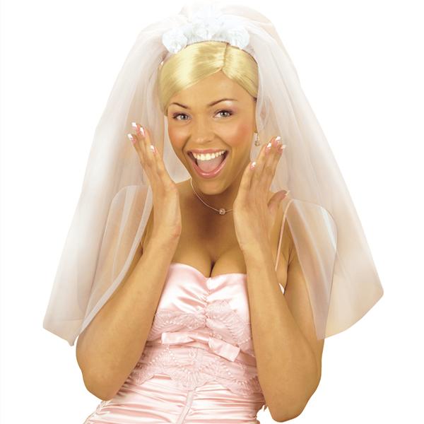 Bandolete com Véu de Noiva em Tule