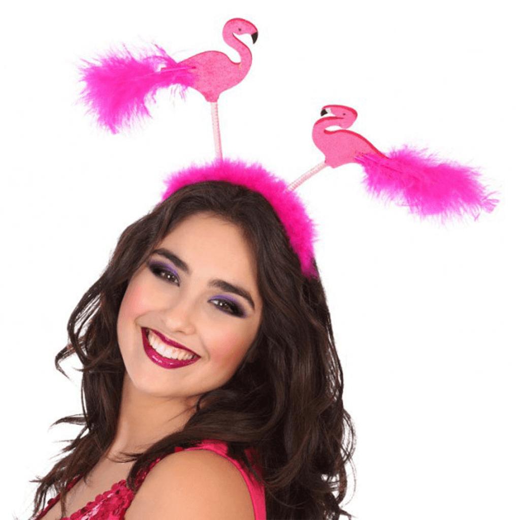 Bandolete Flamingos e Plumas Rosa