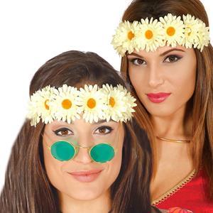 Bandolete Flores Brancas Hippie