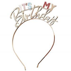 Bandolete It´s My Birthday Dourada