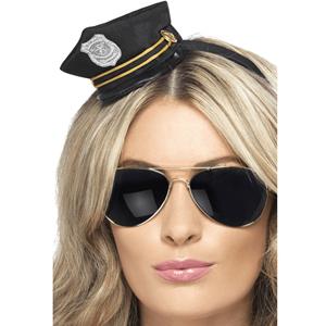 Bandolete Mini Chapéu de Policia Preto