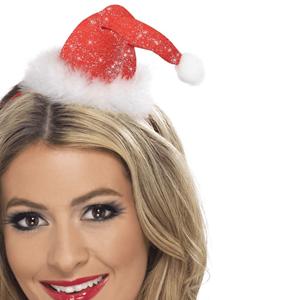 Bandolete Mini Gorro Pai Natal Brilhante