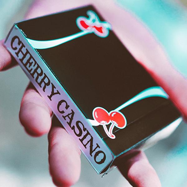 Baralho de Cartas Magia Cherry Casino Preto
