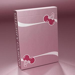 Baralho de Cartas Magia Cherry Casino Rosa Flamingo