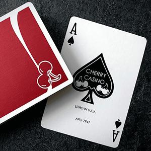 Baralho de Cartas Magia Cherry Casino Vermelho