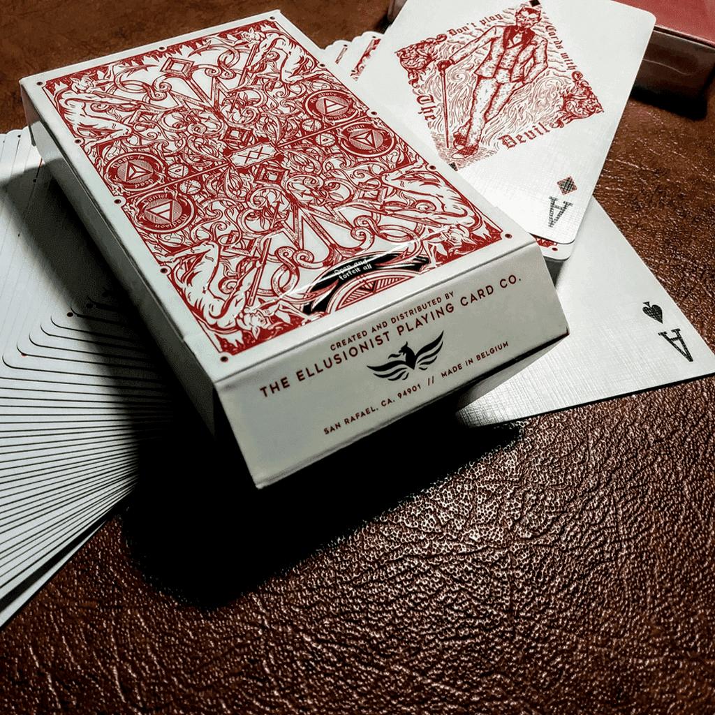 Baralho de Cartas Magia Hellions Vermelho