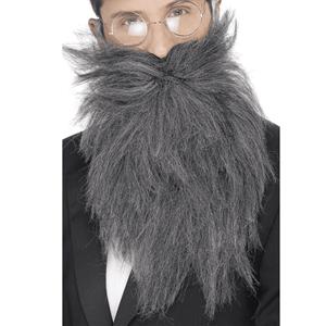 Barba Comprida e Bigode Cinzento Grisalho