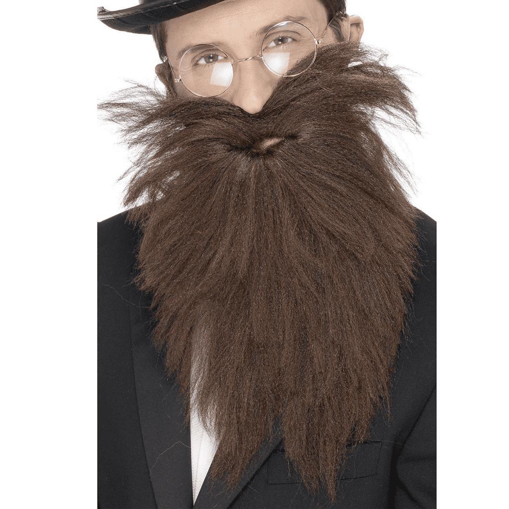 Barba Comprida e Bigode Castanho