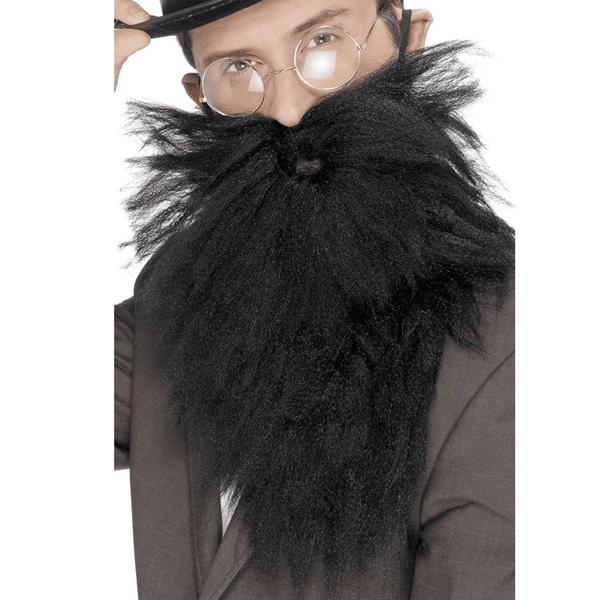 Barba Comprida e Bigode Preto