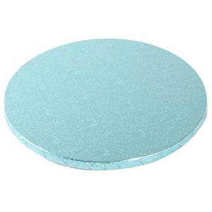 Base Alta Redonda para Bolos Azul Claro, 30 cm