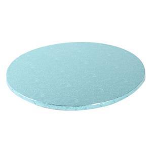 Base Alta Redonda para Bolos Azul Claro, 25 cm