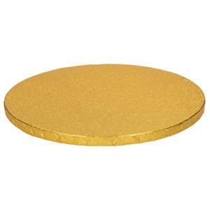 Base Alta Redonda para Bolos Dourada, 30 cm