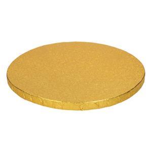 Base Alta Redonda para Bolos Dourada, 25 cm