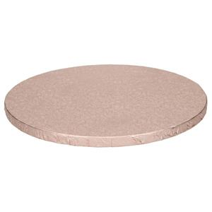 Base Alta Redonda para Bolos Rosa Gold, 30 cm