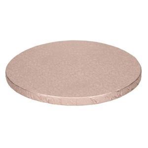 Base Alta Redonda para Bolos Rosa Gold, 25 cm