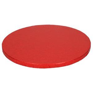 Base Alta Redonda para Bolos Vermelha, 30 cm