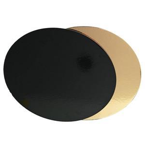 Base para Bolos Dourada e Preta, 32 cm