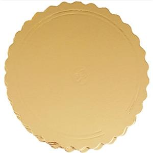Base para Bolos Dourada e Preta Ondulada, 32 cm