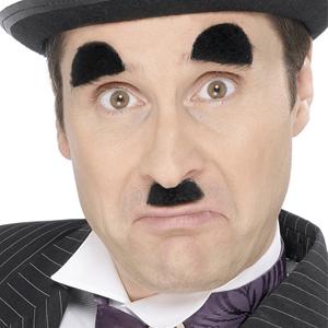 Bigode e Sobrancelhas Preto Charlie Chaplin