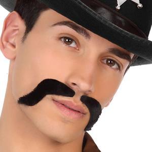 Bigode Preto Polícia Cowboy