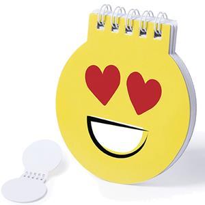 Bloco de Notas Emoji Olhos Coração